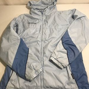 Blue Columbia Packable Jacket